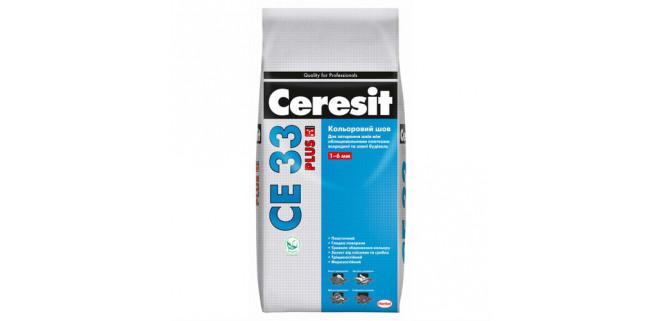 Ceresit CE33 Plus Беж Замазка для швов 1–6 мм, 2 кг