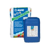 Двухкомпонентная эластичная гидроизоляция бетона Mapelastic Mapei 32 кг (24+8)