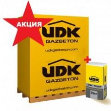 АКЦИЯ! Газоблок комплект: 1 куб газоблока + клей в подарок + бесплатная доставка (машинная норма)