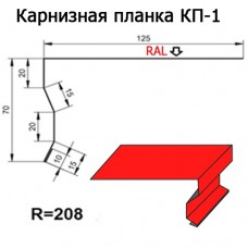 Карнизная планка КП-1 R 208 длина 2м МАТПОЛИЭСТЕР
