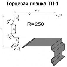 Торцевая планка ТП-1 R 250 длина 2м ЦИНК