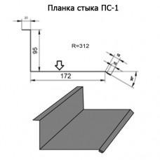 Планка стыка ПС-1 R 312 длина 2м ЦИНК