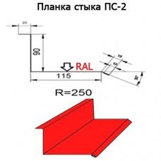 Планка стыка ПС-2 R 250 длина 2м ПОЛИЭСТЕР