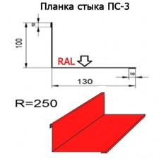 Планка стыка ПС-3 R 250 длина 2м МАТПОЛИЭСТЕР