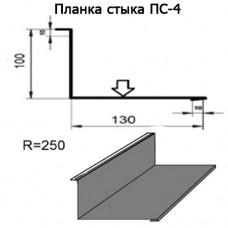 Планка стыка ПС-4 R 250 длина 2м ЦИНК