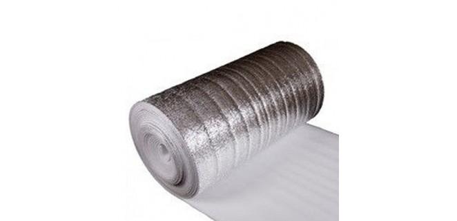 Утеплитель фольгированный толщина 10 мм, ширина 1 м (лавсан) Изолон