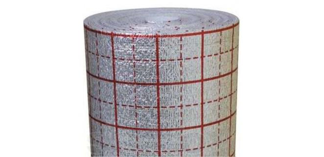 Утеплитель фольгированный «теплый пол» 5 мм (лавсан) Изолон