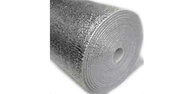 Изолон фольгированный с 2-х сторон 5 мм (ал. фольга)