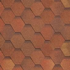 Битумная черепица SHINGLAS Кадриль однослойная (красно-коричневый) Соната