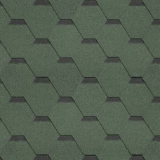 Битумная черепица SHINGLAS Кадриль однослойная (зеленый бленд) Соната