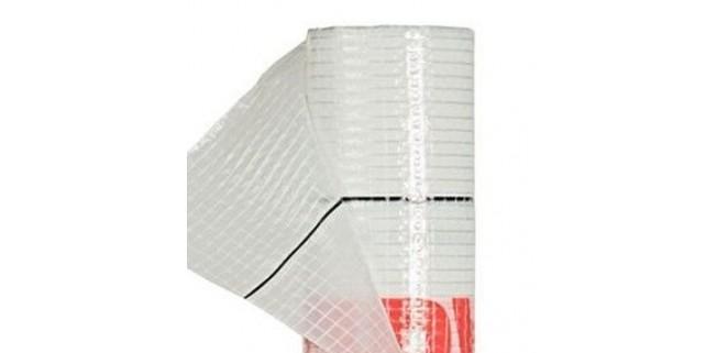 Пароизоляционная пленка белая армированная 90 г/м.кв, за м.кв.