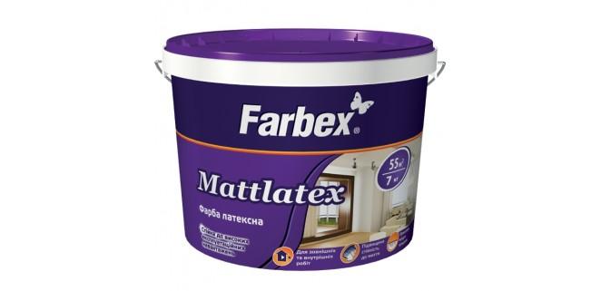 Farbex Mattlatex 7 кг краска латексная  для нар. и внутр. работ