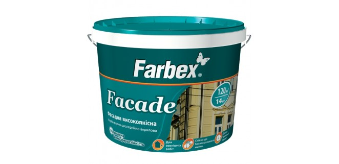 Фасадная краска Farbex Faсade 7 кг