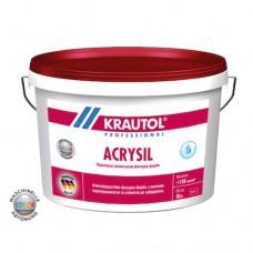 Краска фасадная силиконовая KRAUTOL Acrylsil 10 л