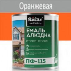 Эмаль ПФ-115 оранжевая 0,9 кг Rolax