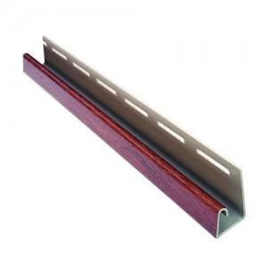 J-профиль для крепления софитов Asko (коричневый, графит, бежевый, светло-серый) 3,8 м
