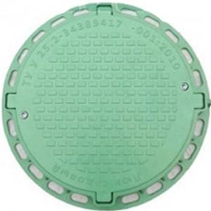 Люк пластиковй «Садовый» Тип ЛМ зеленый арт. 35882-З