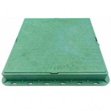 Люк садовый квадратный пластиковый зеленый арт. 35878-З