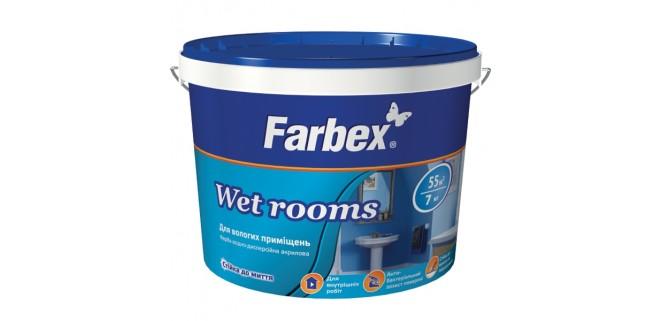 Краска для влажных помещений Farbex Wet Rooms 14 кг