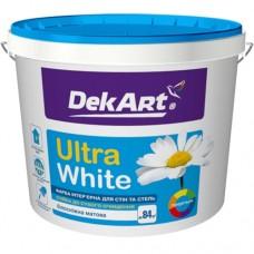 Краска для стен и потолков DekART Ultra White 6,3 кг