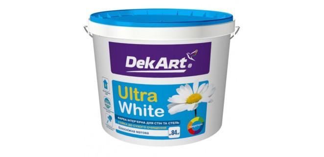 Краска для стен и потолков DekART Ultra White 12,6 л