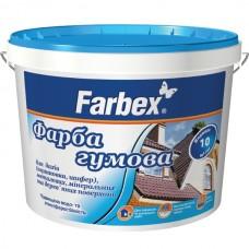 Резиновая краска Farbex 12 кг Коричневая матовая RAL 8017