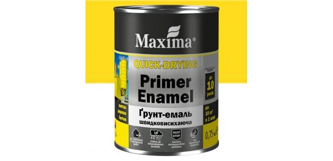 Грунт-эмаль Maxima 0,75 кг желтая