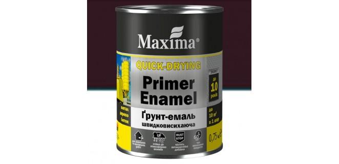 Грунт-эмаль Maxima 0,75 кг темно-коричневая