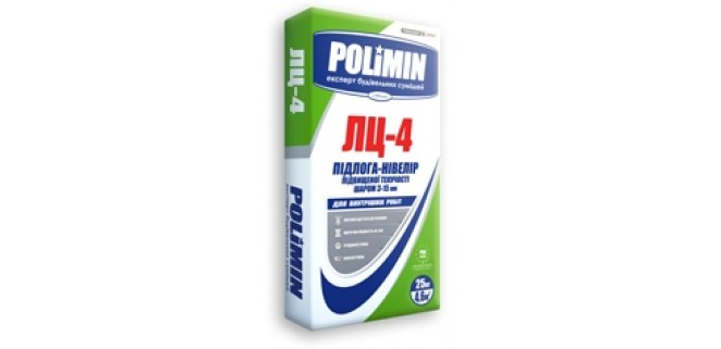 Полимин ЛЦ-4 Пол самовыравнивающийся (3-15 мм)